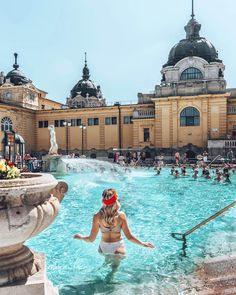 """The capital of Hungary"", ""The Pearl of the Danube"" and ""The City of Spas"" are sweet nicknames that tourists make for Budapest. So what are the best things to do when traveling in Budapest? Let's discover treasures of this charming city! Places To Travel, Travel Destinations, Places To Visit, Budapest Thermal Baths, Capital Of Hungary, Hungary Travel, Budapest Travel, European Tour, Future Travel"