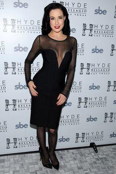 Dita Von Teese same Herve Leger dress Megan Fox - Celebrity Style Who Wore It Best?