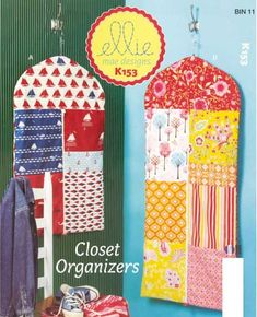 These colorful lined patchwork garment bags will help organize your closet and come in handy while traveling! The bags are easy to make, and have a sporty