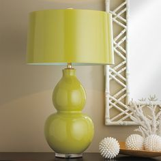 Pop Color Modern Ceramic Table Lamp lime_green_with_seat_salt_lining
