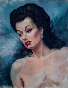 Mid Century Portrait of Lady in Contented Mood by foreveretro, $225.00
