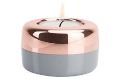 DUO   Candle Holder Copper & Gray by TEO