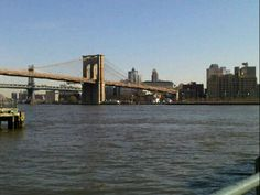 view of Brooklyn and Brooklyn Bridge from Battery Park