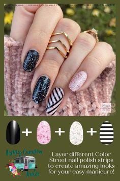 Get Nails, Fancy Nails, How To Do Nails, Pretty Nails, Hair And Nails, Nail Polish Strips, Nail Polish Art, Nail Art, Nail Color Combos