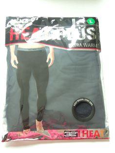 758b29cee822 32 DEGREES NEW MENS BLACK LONG UNDERWEAR STRETCH PAJAMA PANTS LEGGINS sz L  LARGE  fashion  clothing  shoes  accessories  mensclothing  sleepwearrobes  (ebay ...