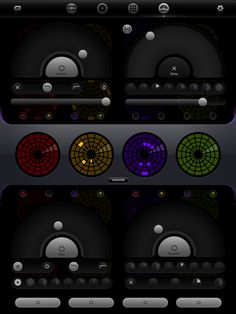 iPad Drum Machine, test Nr. 3: Casual Underground Loopesque ~ sample based, unique and friendly user interface ~ build your own performance sets or buy prefabricated  ~ one performance set can fuel a lengthy 15min dance track due to easy circular pattern variation and flexible effects (effect performance controls shown in picture)   #electronicmusic #synthesizer #instruments #electroacoustic #sound #synthesis