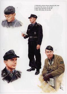 Otto Carius, Ww2 Uniforms, German Uniforms, Military Uniforms, German Soldiers Ww2, German Army, Military Art, Military History, Schmidt