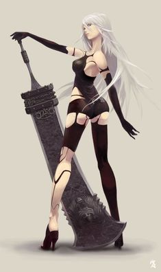 Nier Automata anime Canvas Wall Poster Anime quotes and memes and sexy anime artwork & drawings of manga and anime art that I find interesting and ike to draw for myself as well. M Anime, Girls Anime, Chica Anime Manga, Anime Art Girl, Fantasy Girl, Fantasy Anime, Nier Automata A2, Neir Automata, Manga Girl