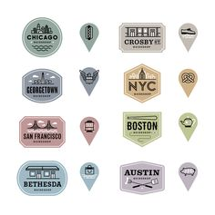Badges and icons for the Bonobos Guidebook  by Ed Nacional
