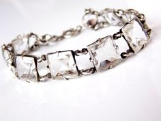 Vintage Art Nouveau Faceted Rock Crystal by TheButterflyBoxdeitz, $225.00