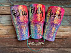 Your place to buy and sell all things handmade Diy Tumblers, Custom Tumblers, Glitter Tumblers, Glitter Cups, Glitter Face, Glitter Boots, Glitter Party, Glitter Girl, Purple Glitter