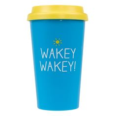 Happy Jackson Happy Jackson Wakey Wakey Travel Mug- at Debenhams.com