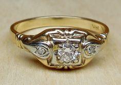 Vintage Antique .17ct Old European Cut Diamond by DiamondAddiction, $360.00