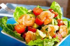 Salad with shrimp (recipe, recipes)