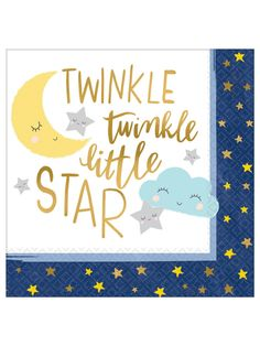 Happy 8th Birthday Blue Stars Luncheon Napkins Pack of 16