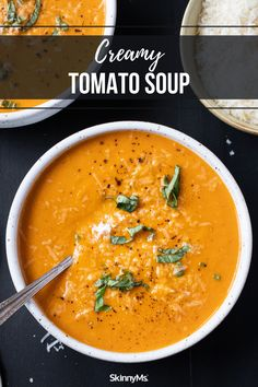 Creamy Tomato Soup Chili Recipes, Slow Cooker Recipes, Crockpot Recipes, Soup Recipes, Vegan Recipes, Healthy Dinner Options, High Protein Low Carb, How To Eat Paleo, Tomato Soup