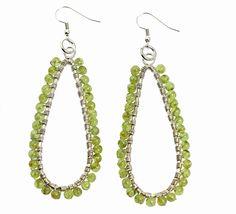New! Trendy Hammered Fine Silver Wire Wrapped Tear Drop Peridot Earrings https://www.johnsbrana.com/products/hammered-fine-silver-wire-wrapped-tear-drop-peridot-earrings