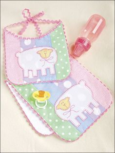 Quilting - Patterns for Children & Babies - Gift Patterns - Little Lamb Bib & Burp Pad