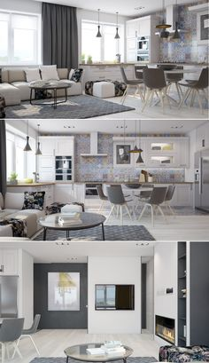 The Best 2019 Interior Design Trends - Interior Design Ideas Condo Interior, Interior Design Kitchen, Luxury Interior, Interior Design Living Room, Interior Architecture, Living Room Designs, Small Apartments, Small Spaces, Appartement Design