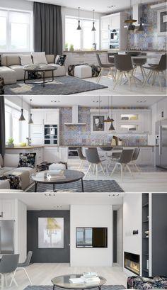 The Best 2019 Interior Design Trends - Interior Design Ideas Condo Interior, Luxury Interior, Home Living Room, Apartment Living, Interior Design Living Room, Living Room Designs, Interior Architecture, Small Apartments, Small Spaces