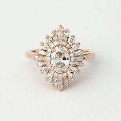 Heidi Gibson Oval Gatsby Engagement Ring