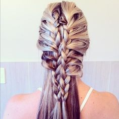 Two loose lace braids