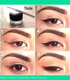 Wing Eyeliner #Beauty #Trusper #Tip