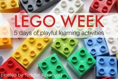 Duplo and Lego Ideas for Kids on Lego Week