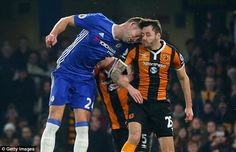 HULL CITY'S RYAN MASON UNDERGOES EMERGENCY SURGERY AFTER FRACTURING HIS SKULL IN CLASH OF HEADS WITH GARY CAHILL AT CHELSEA