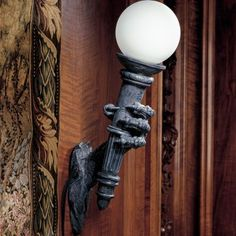 Design Toscano Exterior Lighting Blackfriar's Gate Wall Torchiere Lamp - CL2634