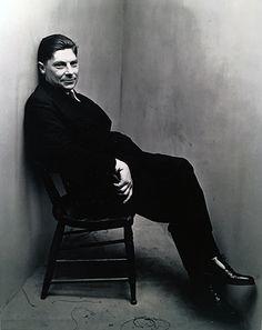 Irving Penn, Corner Portrait, Arthur Koestler, NY, 1948 for Vogue Magazine