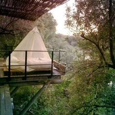 "sleep to the sounds of nature... this is aka ""Glamping"""