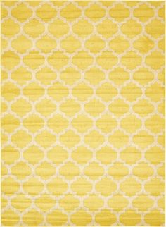 Features:  -Machine made.  -Material: Polypropylene.  -Easy to clean.  -Stain resistant.  -Does not shed.  -Color: Yellow.  Technique: -Machine woven.  Primary Color: -Yellow.  Material: -Synthetic.