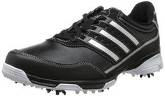 dec59075b Cloudfoam sockliner on these mens golflite traxion golf shoes by Adidas  provides ultra-light cushioning