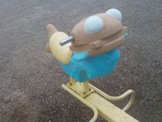 In April 2015, this vintage McDonaldland Filet-O-Lake themed teeter totter was for sale on ebay. This photo depicts the close-up of a Filet-O-Fish character.