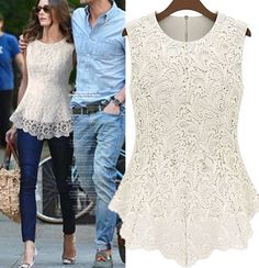Lace top - I want one of these but in black!
