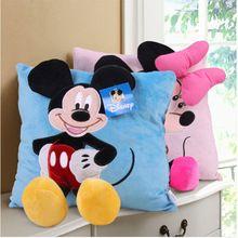 Cartoon Mickey Mouse Minnie Mouse Plush Poduszka Poduszka dla dzieci Zabawki dla niemowląt X'mas prezenty urodzinowe (Chiny (kontynentalne))