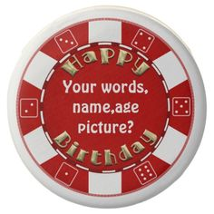 Add words Birthday poker chip dipped oreo cookies Chocolate Covered Oreo