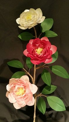 Paper Camellia (used Lia Griffith template)
