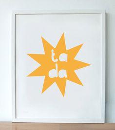 Ta-Da Print in Orange