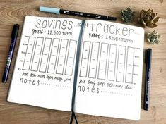 bullet journal savings tracker layout | bullet journal page ideas inspiration | bujo savings tracker | doodles |organize your life | How to start a bullet journal monthly spread | bullet journal template | bullet journal organization hacks