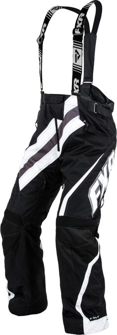 FXR Racing - 2015 Snowmobile Apparel - Men's X-System Pant - Black/White