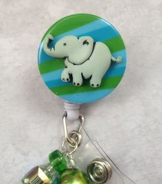 Elephant Retractable Badge Reel professional by ForTheLovetlc, $8.00
