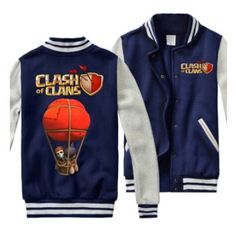 Balloon jeu COC mens sweatshirts Clash of Clans vestes de baseball
