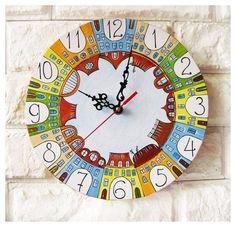 The City of Yecho  Wall Clock Home Decor for Children Baby Kid Boy Girl Nursery Playroom