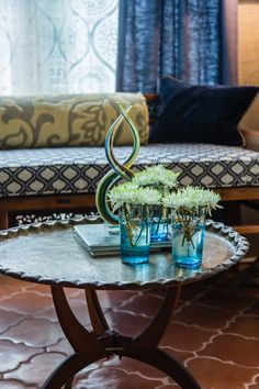 Moroccan Brass Coffee Table and Glasses Decor Interior Design, Interior Decorating, Brass Coffee Table, Architectural Features, Spanish Colonial, Next At Home, Photography Portfolio, Interiores Design, Moroccan