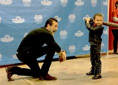 """Jeffrey Dean Morgan """"Little Negan (and little Lucille) about to take out Big Negan"""""""