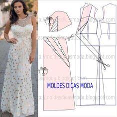 Pedido expresso de uma seguido da página este molde de vestido drapeado longo…
