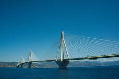 Pont Rio-Antirio près de Patras en Grèce – Wikipedia – Foto Inkey Patras, Bridge, Greece