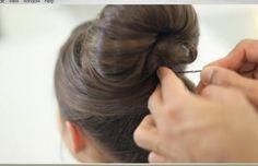 How to do an Audrey Hepburn bun